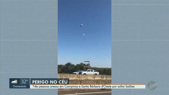 Três suspeitos são detidos após soltura de balões nas regiões de Campinas e Piracicaba