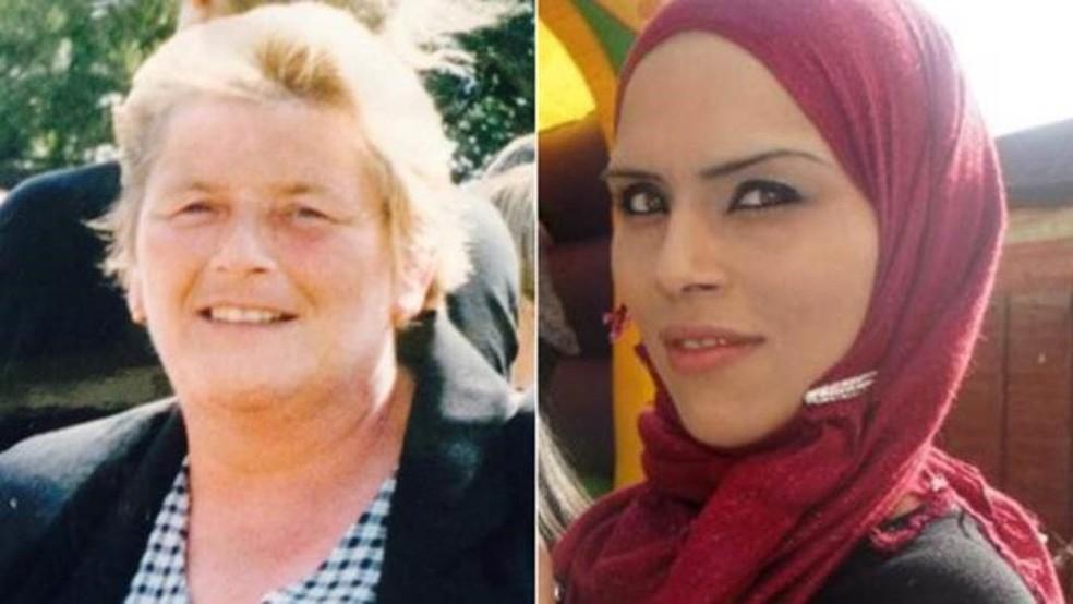 Pearl Khan, mãe deles, e Yasmin Khan, irmã, morreram de câncer no estômago — Foto: Arquivo Pessoal/BBC