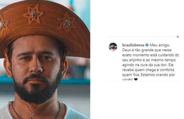 O poeta do 'Encontro com Fátima Bernardes' Braulio Bessa prestou suas condolências (Foto: Reprodução)