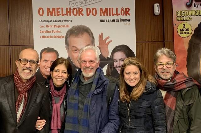 Rui Vilhena, Teresa Frota, Henri Pagnoncelli, Carolina Puntel e Edwin Luisi (Foto: Arquivo pessoal)