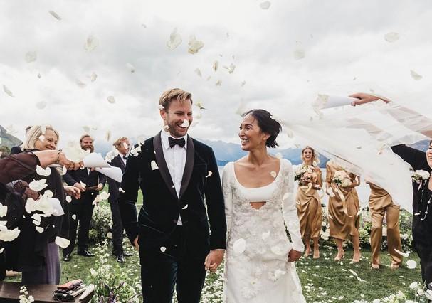 O casamento de Nicole Warne (@garypeppergirl) com Luke Shadbolt (Foto: Instagram/Reprodução)