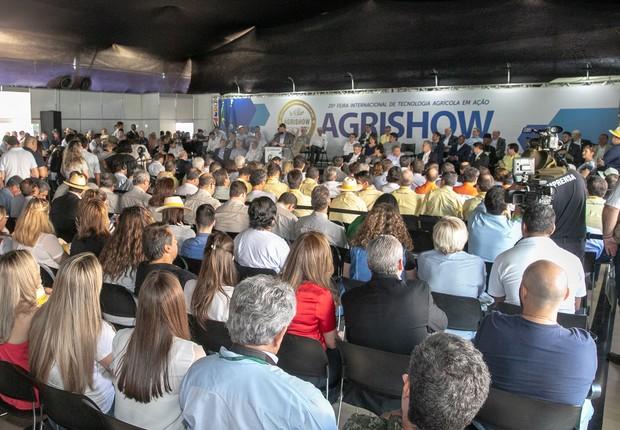 Abertura da Agrishow 2018 (Foto: Ciete Silvério/Fotos Públicas)