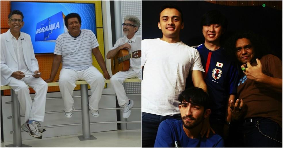 -  Trio Roraimeira  à esquerda  e Turbo  à direita  são as atrações regionais do Estação Lunar e do Festival de Rock  Foto: Valéria Oliveira/G1; Turbo/D