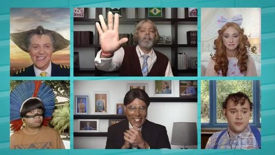 Episódio com aula on-line abre nova temporada da 'Escolinha'
