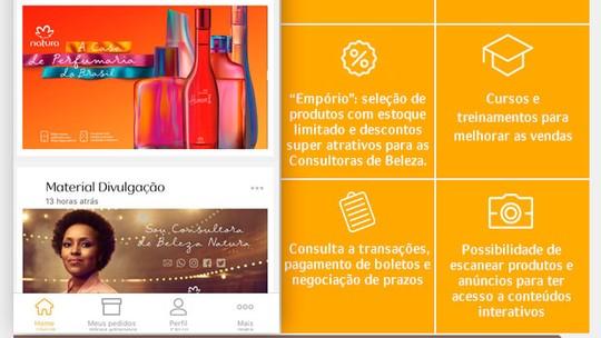 Novidades no aplicativo para as consultoras Natura faz Abigail aumentar suas vendas
