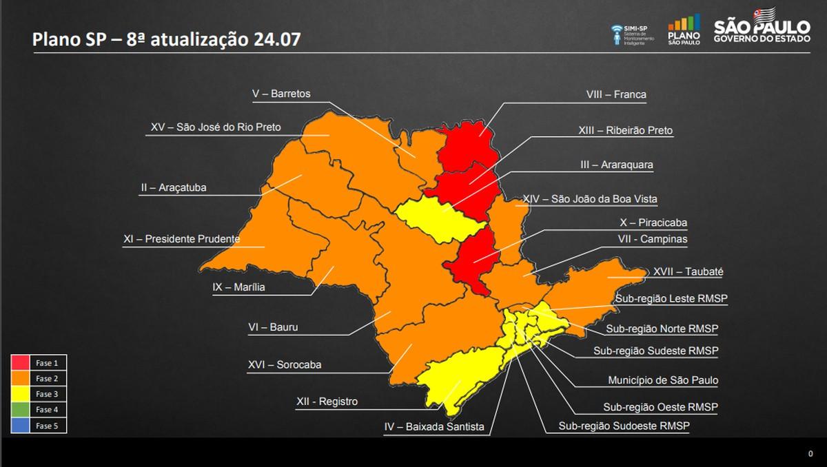 Regiões de Bauru e Marília são mantidas na fase laranja da flexibilização da quarentena – G1