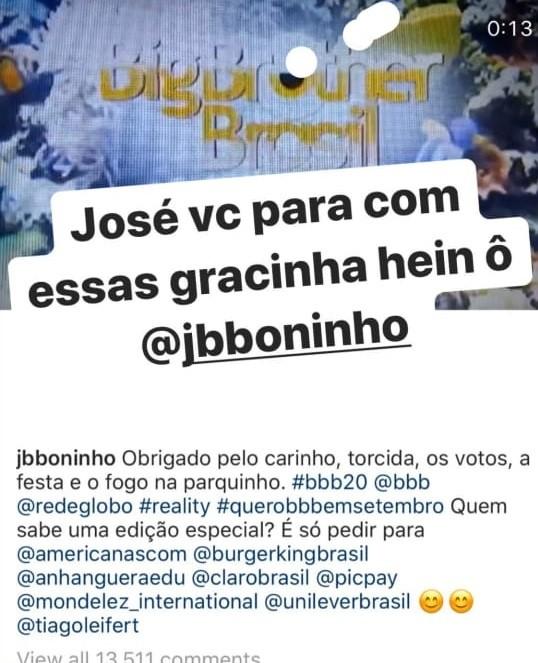 Tiago Leifert responde provocação de Boninho (Foto: Reprodução Instagram)