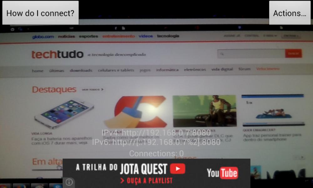 IP Webcam | Download | TechTudo