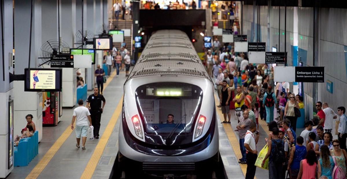 Tarifa do metrô do Rio é reajustada e passageiros pagam R$ 5,80 a partir desta terça-feira