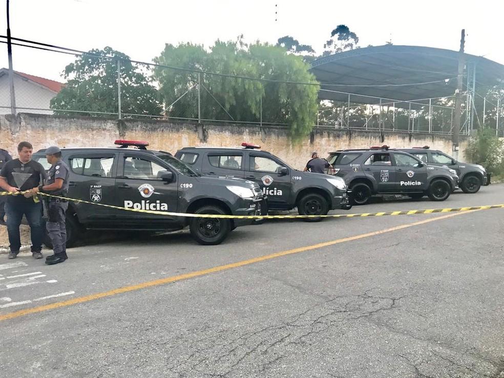 Três foram mortos em ação da PM durante sequestro em Pindamonhangaba — Foto: Fernando Alves/TV Vanguarda