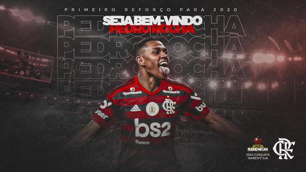 Flamengo anuncia Pedro Rocha — Foto: Reprodução