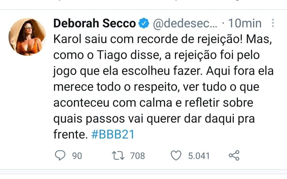 Deborah Secco — Foto: Reprodução/Twitter