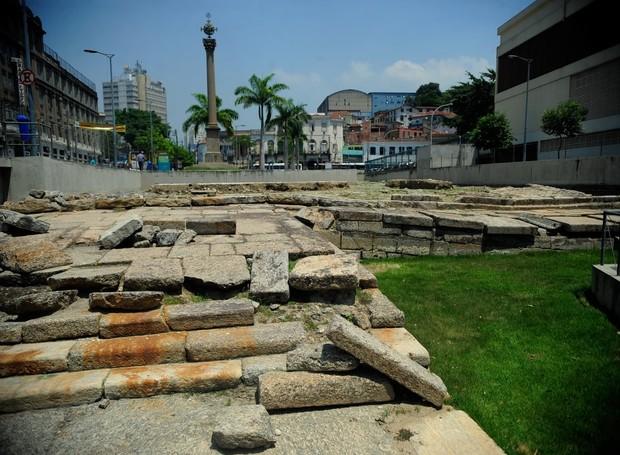 Cais do Valongo, na regioão central da cidade (tomaz Silva/Agência Brasil) (Foto: Agência Brasil/ Reprodução)