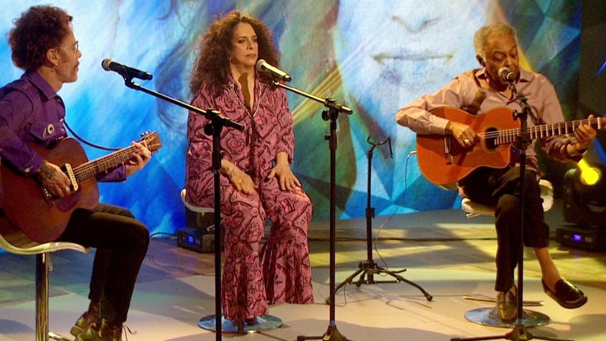 Gilberto Gil, Gal Costa e Nando Reis se apresentam na 'Trinca de Ases' em João Pessoa