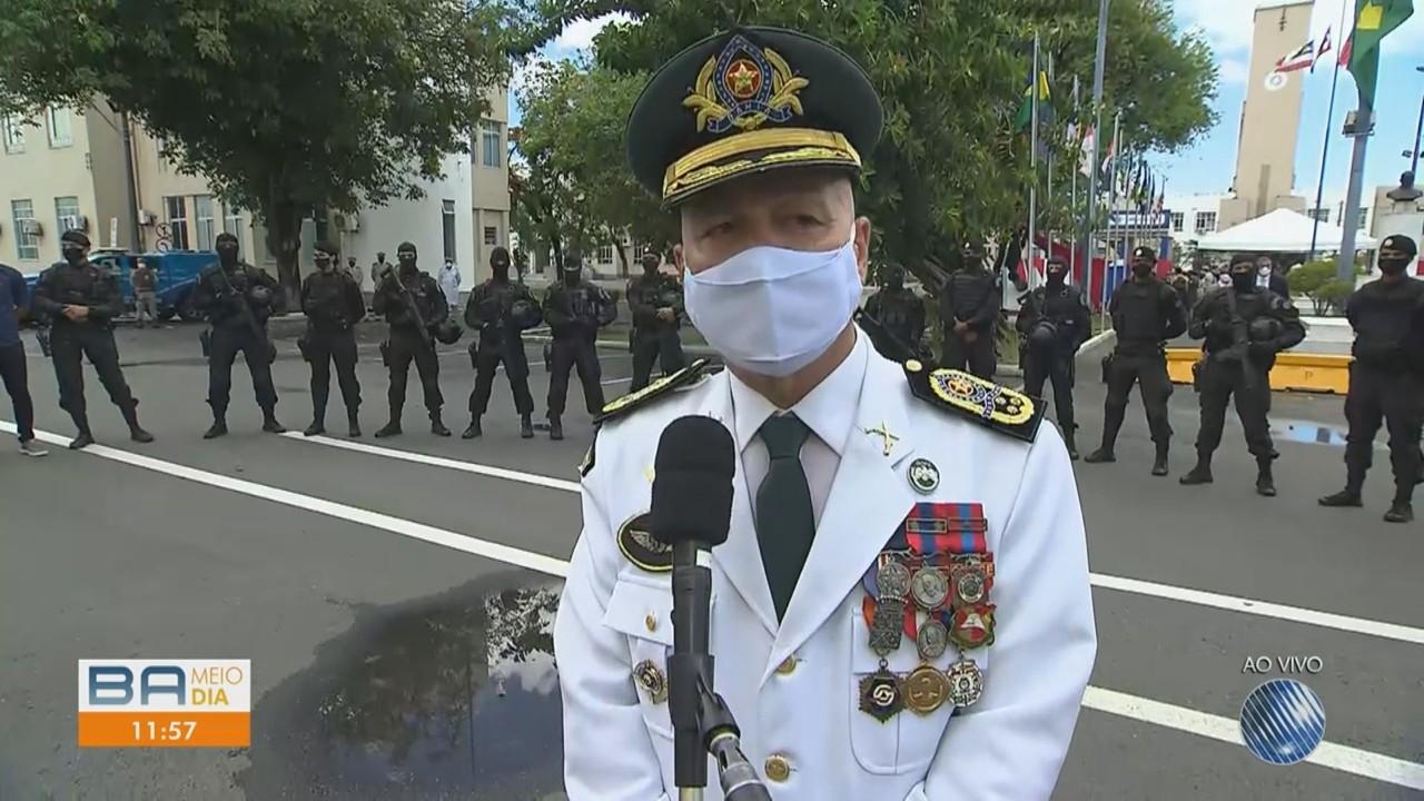 Novo comandante da Polícia Militar, coronel Paulo Coutinho da Bahia é empossado