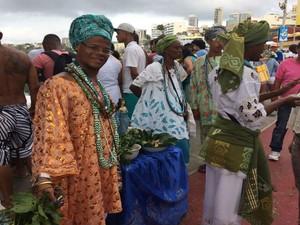 Pai Luiz participa da festa há 20 anos (Foto: Maiana Belo / G1 Bahia)