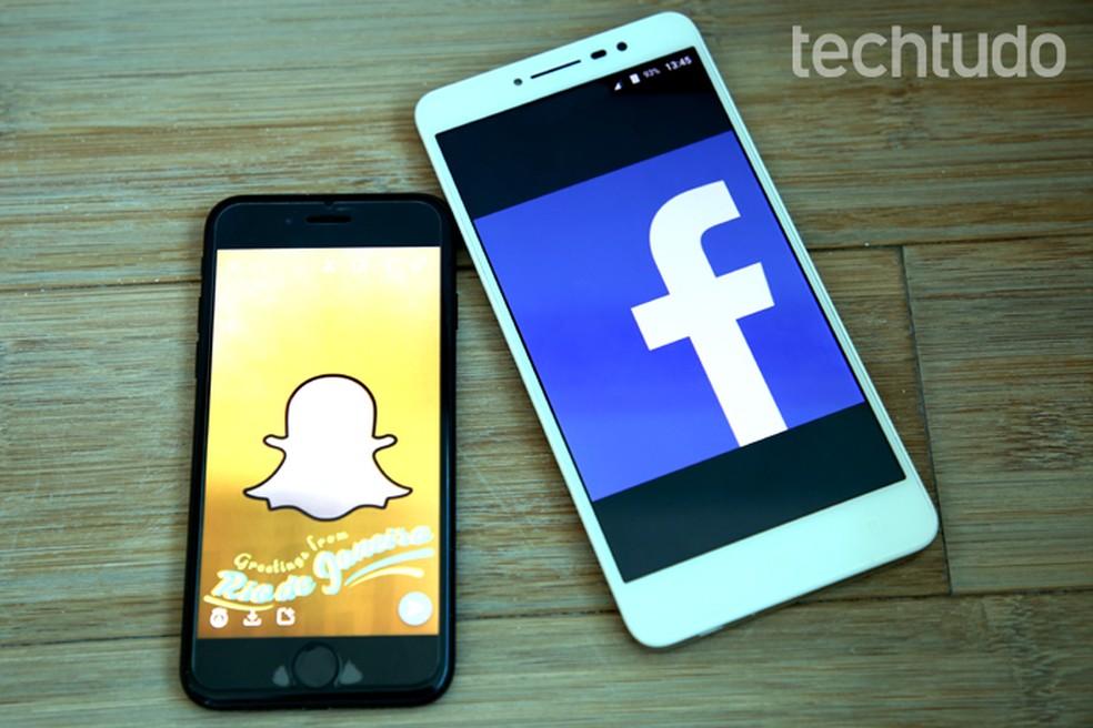 Snapchat versus Facebook (Foto: Carolina Ochsendorf/TechTudo)
