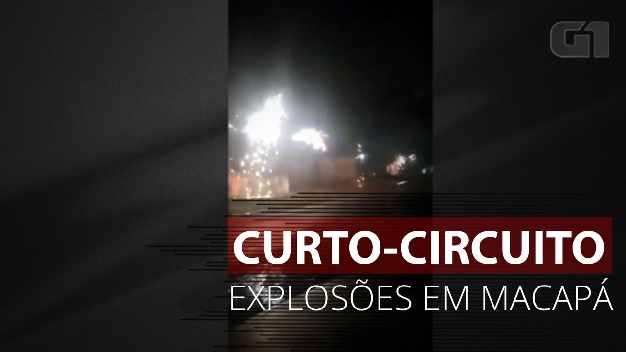 Vídeo mostra explosões em rede de energia após curto-circuito em Macapá