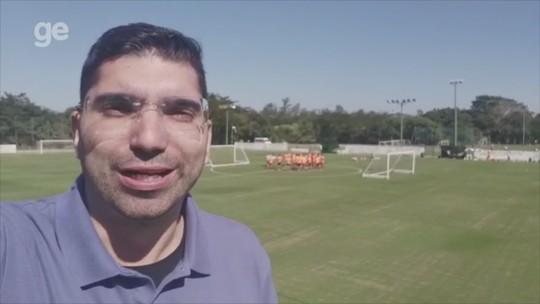 Recuperado, Dourado treina com bola no primeiro trabalho do Inter em Atibaia
