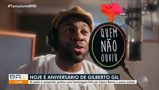 Lázaro Ramos e mais dois atores gravam canção em homenagem a Gilberto Gil