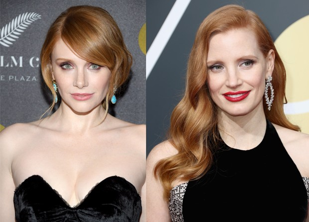 Bryce Dallas Howard e Jessica Chastain (Foto: Montagem / Getty Images)