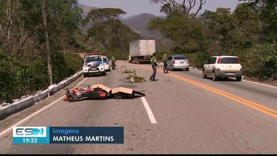 Motociclista morre em acidente em rodovia Pedro Cola, em Castelo, no Sul do ES