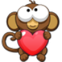 Bubble Monkey Valentine's Day!