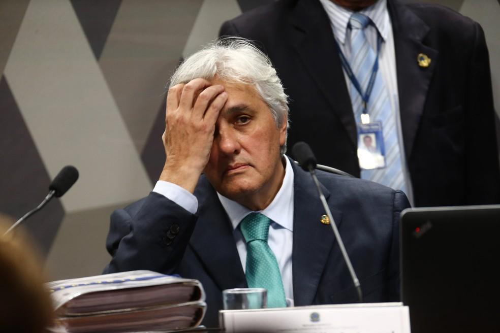 Imagem mostra o senador cassado Delcídio do Amaral (Foto: Wilton Junior/Estadão Conteúdo)