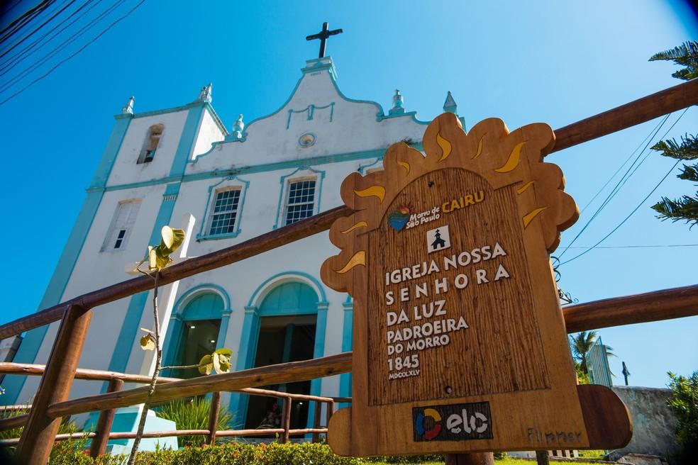 Igreja da Nossa Senhora da Luz, em Morro de São Paulo (Foto: Márcio Filho/MTUR)