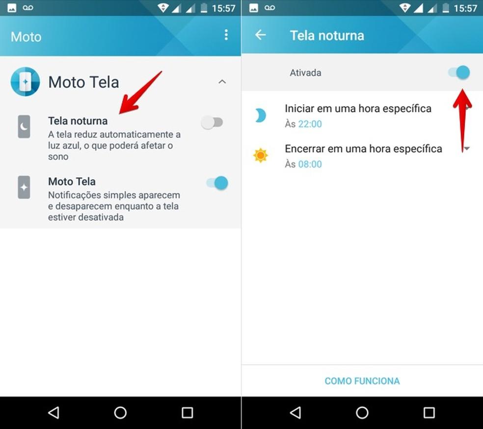 Como usar o modo noturno em celular Motorola