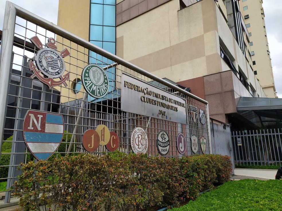 Sede da Federação Paulista de Futebol — Foto: Emilio Botta