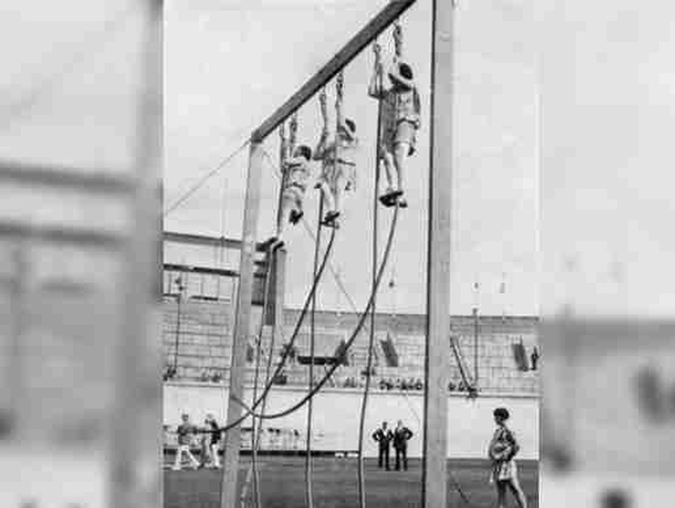 Subida na corda também já foi esporte olímpico — Foto: Reprodução