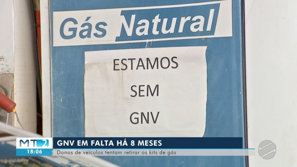 Postos de combustível estão sem gás natural há 8 meses em Cuiabá — Foto: TV Centro América