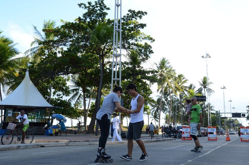Atividades do Recife Verão acontecem no Segundo Jardim de Boa Viagem, na Zona Sul do Recife (Foto: Lú Streithorst/Arquivo PCR)