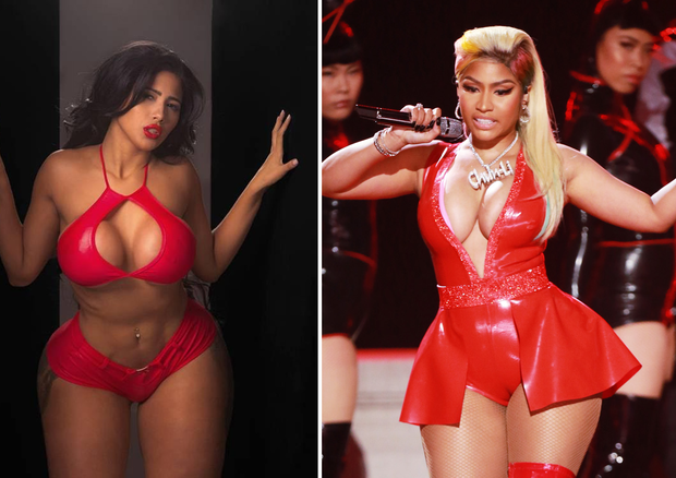 Karen Havary X Nicki Minaj (Foto: divulgação/Getty Images)
