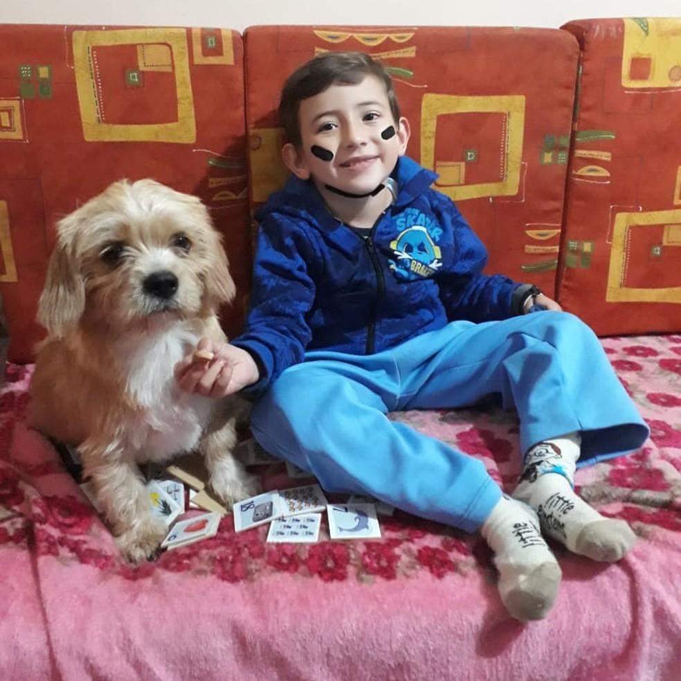 Pipo e Henrique, de seis aninhos  (Foto: Arquivo pessoal )
