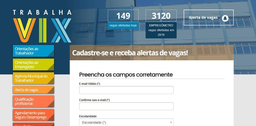 Alerta de vagas de emprego da Prefeitura de Vitória — Foto: Reprodução/ Internet