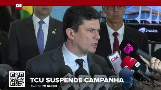 G1 em 1 Minuto: TCU manda suspender campanha publicitária do pacote anticrime