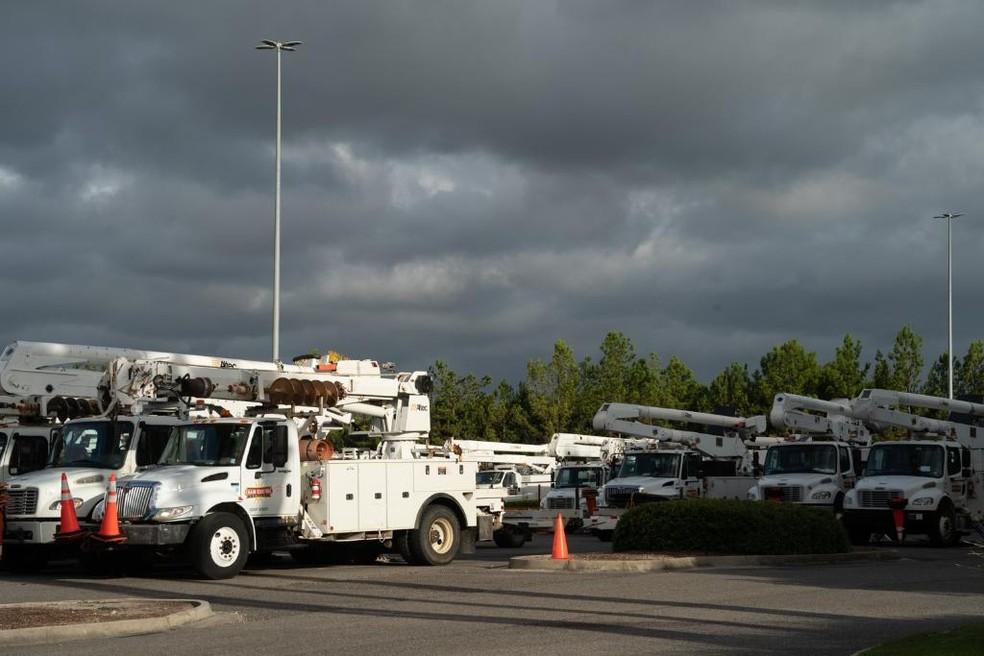 Mais de 48 mil clientes perderam energia elétrica na Louisiana — Foto: Reprodução/ Redes Sociais