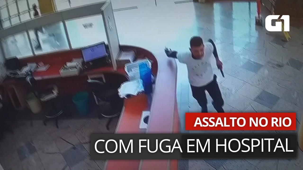 VÍDEO: Imagens mostram criminoso entrando em hospital da Barra da Tijuca após assalto