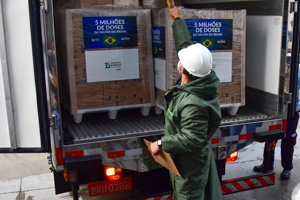 Butantan entrega 5 milhões de doses da CoronaVac ao Ministério da Saúde  nesta segunda | São Paulo | G1