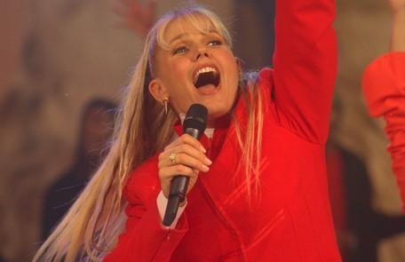 """Com cabelão, em 1998, no """"Planeta Xuxa"""" Arquivo"""