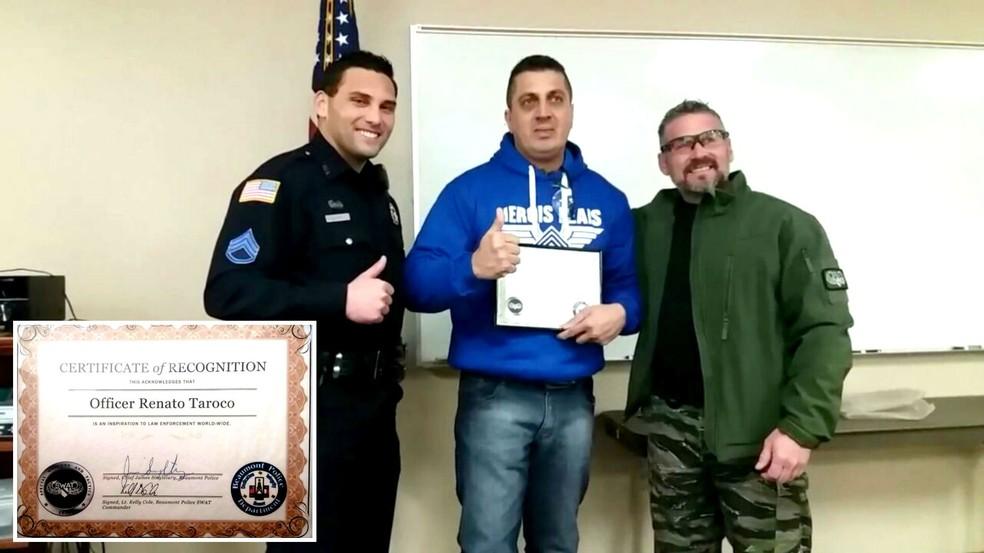 Policial foi o primeiro brasileiro a receber honraria da SWAT nos Estados Unidos  (Foto: Arquivo pessoal)