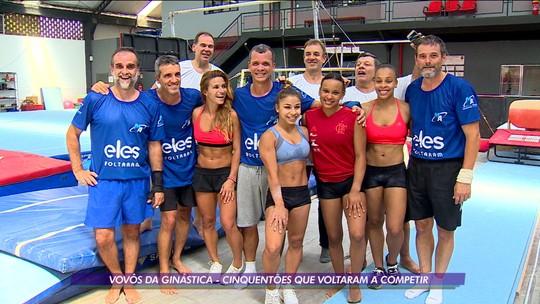 Cinquentões, ginastas dos anos 80 desafiam o tempo e disputam o Brasileiro entre os jovens