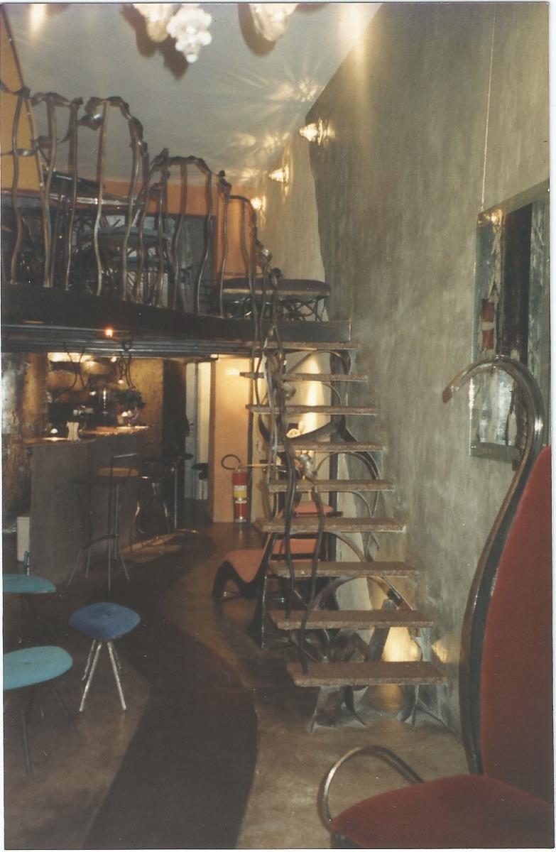 A primeira configuração do Galeria Café, em Ipanema
