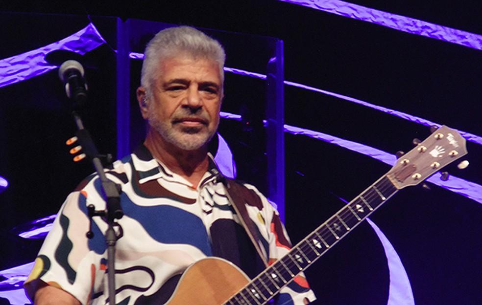 Lulu Santos apresenta em Goiânia a turnê 'Pra sempre' — Foto: Mauro Ferreira / G1