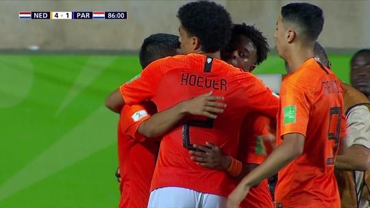 Holanda mostra força, goleia o Paraguai e avança às semifinais do Mundial sub-17
