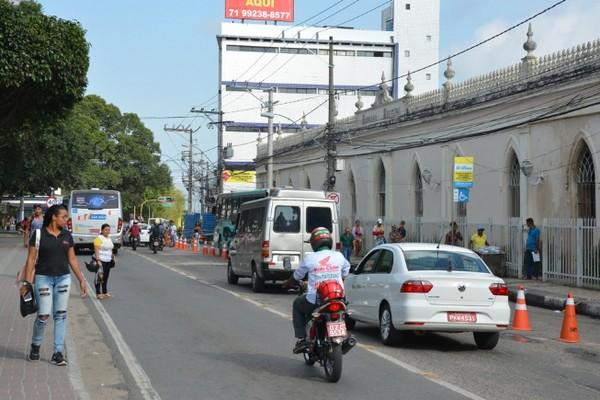 Avenida Getúlio Vargas, em Feira de Santana — Foto: Reprodução
