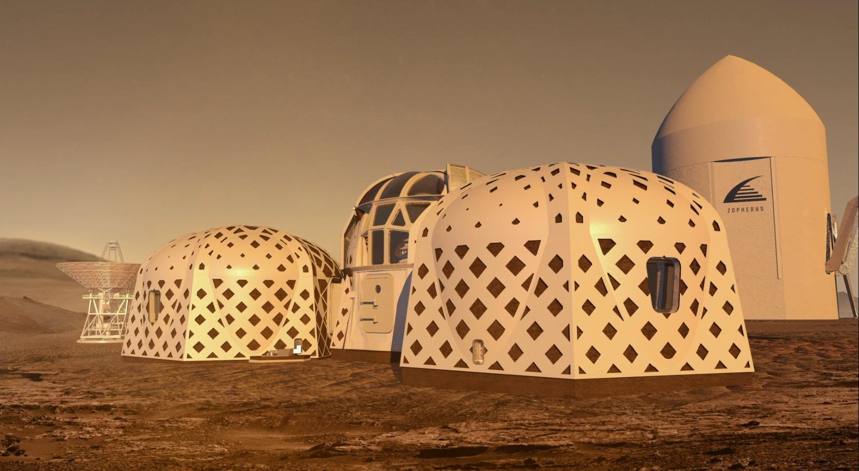 Concurso da NASA exibe como serão as casas construídas em Marte