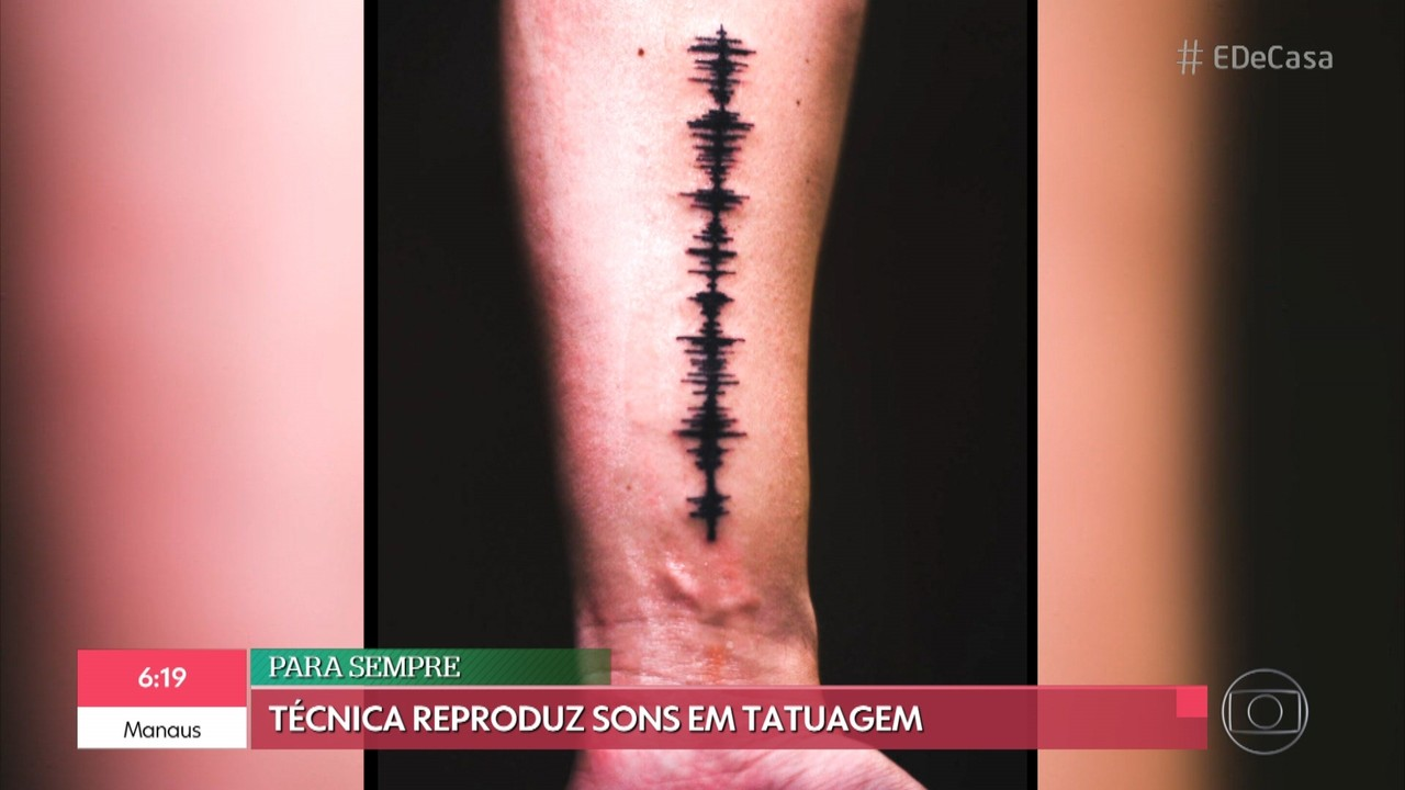 Técnica de tatuagem reproduz sons na pele